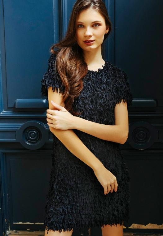 Roaring Fringe Dress in Black alternate img #8