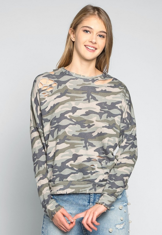 Far From Home Camo Sweatshirt alternate img #1
