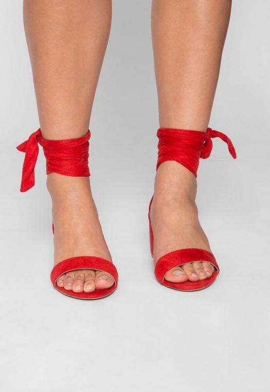 Kitty Ballerina Sandal Heels in Red alternate img #2