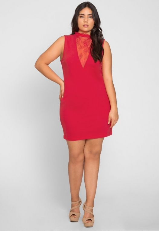 Plus Size Celebration Dress in Red alternate img #5