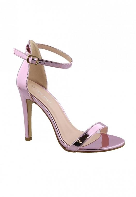 Graduation Sandal Heels in Metallic Pink alternate img #1