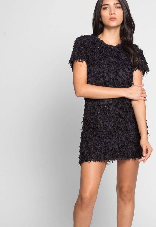 Roaring Fringe Dress in Black alternate img #5