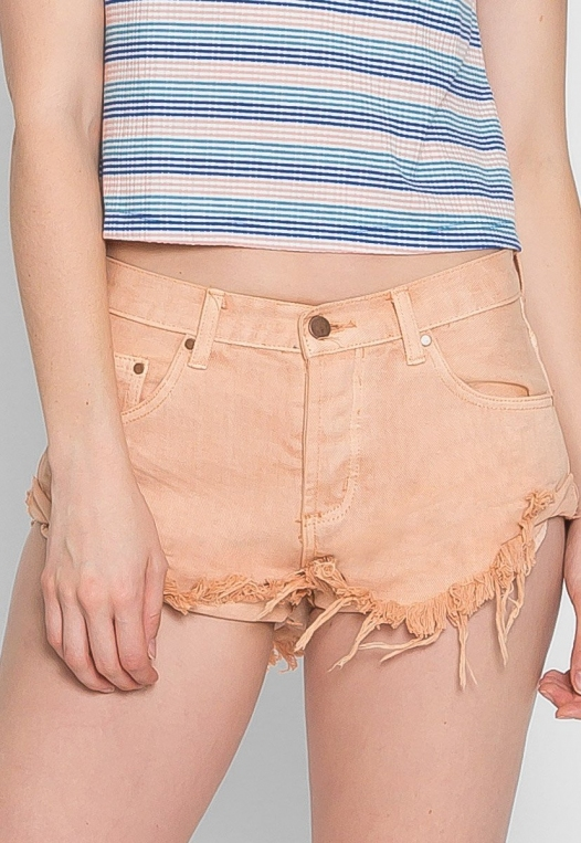 Good Mood Denim Shorts in Sand alternate img #3