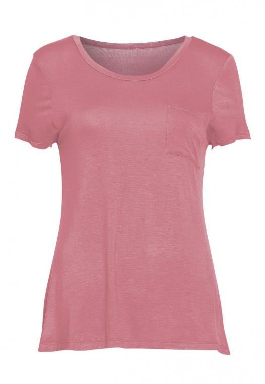 Oregon Oversized V-Neck Pocket Tee in Pink alternate img #7