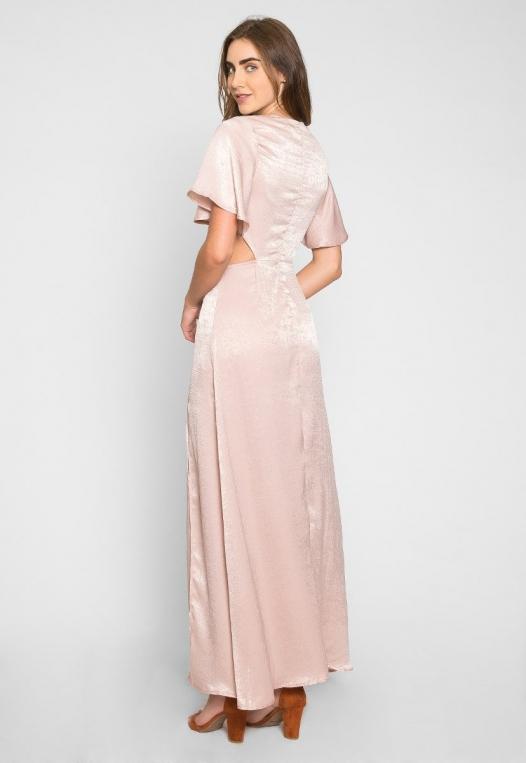 Festive Zip Back Cut Out Dress alternate img #3
