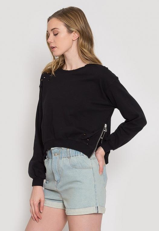 Laid Back Distressed Sweatshirt alternate img #4