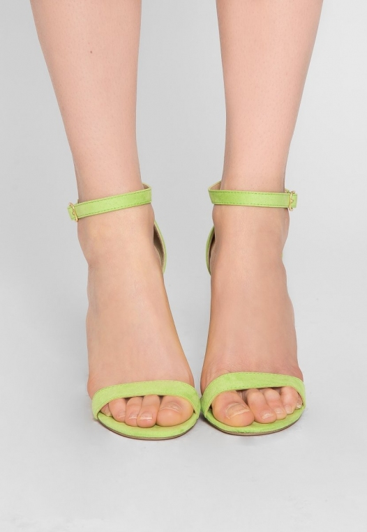 Nature Ankle Strap Heels in Lime alternate img #2