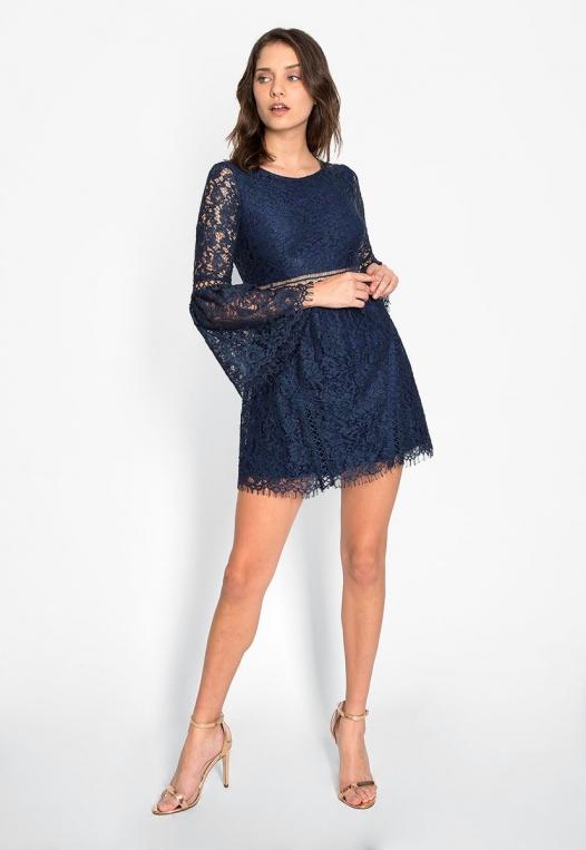 Last Dance Lace Mini Dress alternate img #4