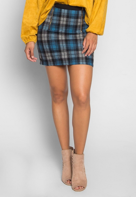 Back to College Plaid Flannel Skirt alternate img #1