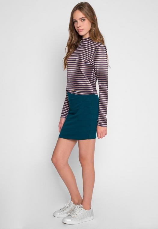 Sandy Mini Skirt in Teal alternate img #1