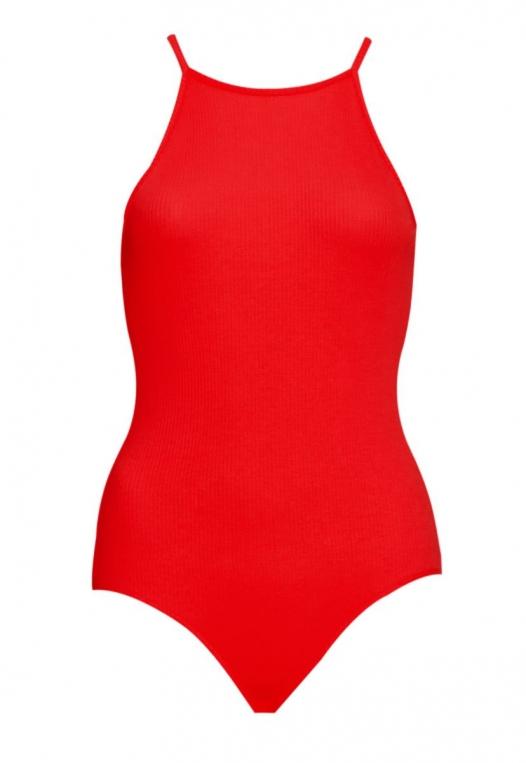 Summer Ready Halter Bodysuit in Red alternate img #7