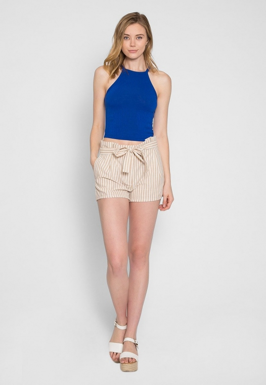 Canyon Halter Crop Top in Blue alternate img #5