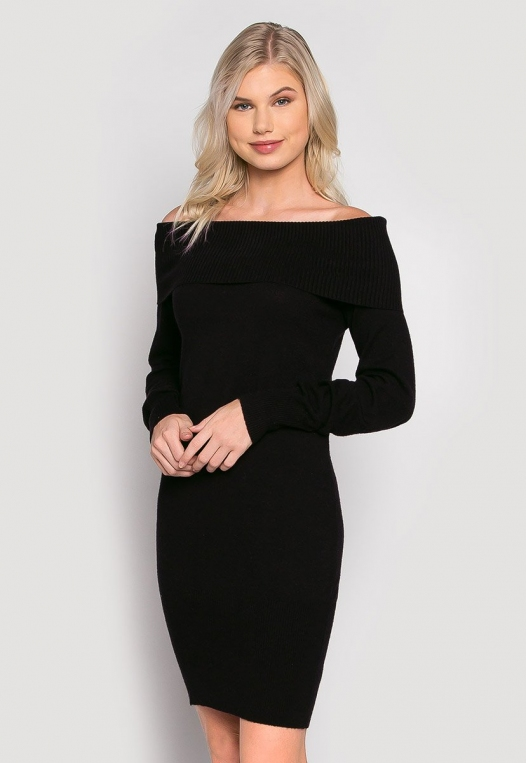 Cosmos Off Shoulder Sweater Dress alternate img #1