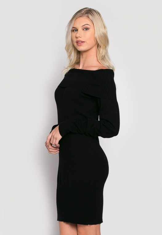 Cosmos Off Shoulder Sweater Dress alternate img #3