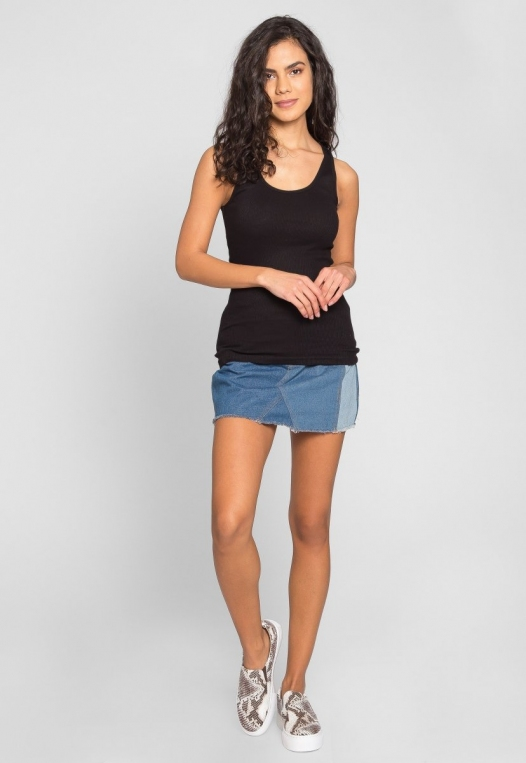 Riley Rib Knit Tank Top in Black alternate img #5