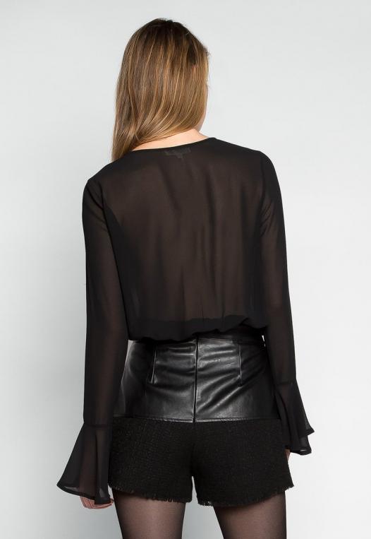 Claire Bell Cuffs Chiffon Bodysuit alternate img #2