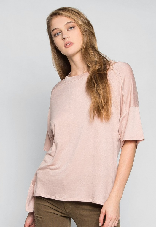 Happy Day Cut Out Knit Top in Peach alternate img #3