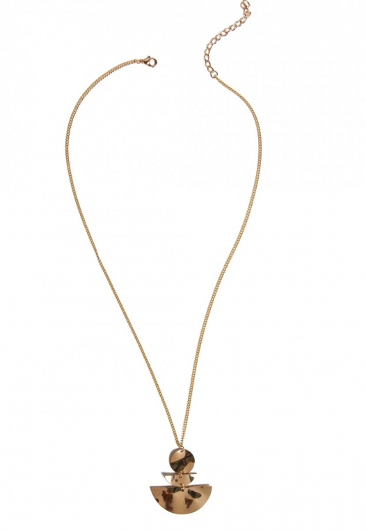 Seismic Pendant Necklace in Gold alternate img #1