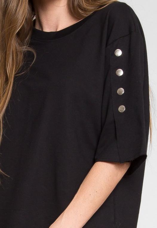 Talbert Button Sweatshirt in Black alternate img #6