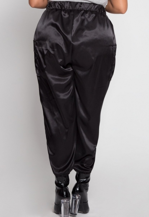 Plus Size Margot Satin Cargo Pants alternate img #3