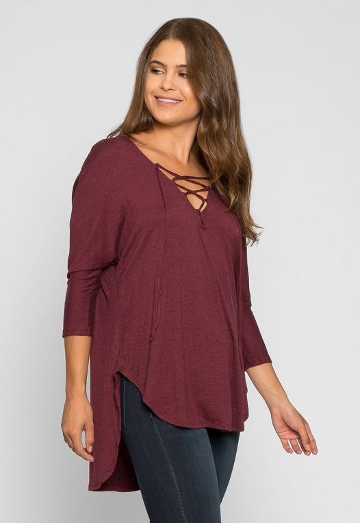 Wake Up Knit Top in Burgundy alternate img #3
