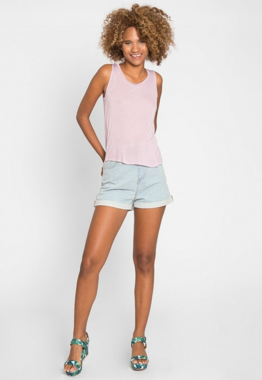 Soft Knit Tank Top in Light Lavender alternate img #5