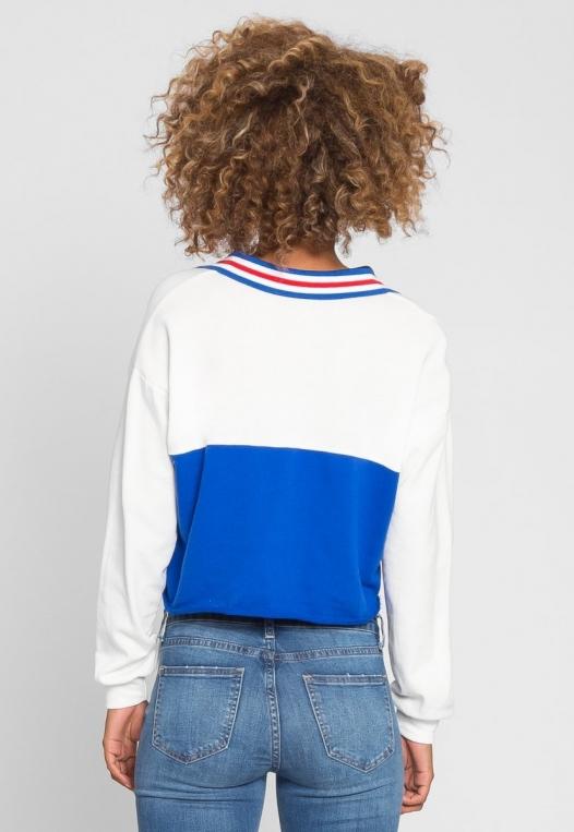 Rugby Colorblock Oversized Sweatshirt alternate img #4
