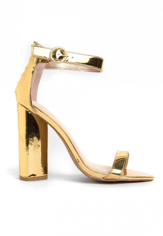 The Vault Metallic Ankle Strap Heels alternate img #1
