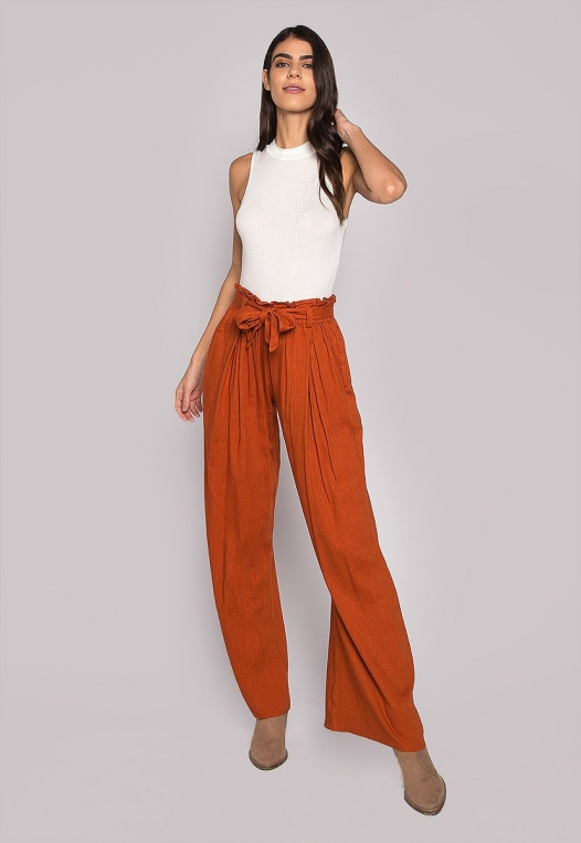 P.S. I Love You Paper Bag Wide Leg Pants alternate img #4