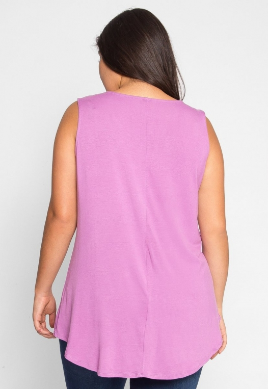 Plus Size Gilroy Sleeveless Top in Mauve alternate img #4