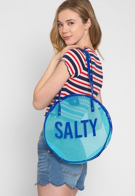 Salty Mesh Beach Tote Bag alternate img #2