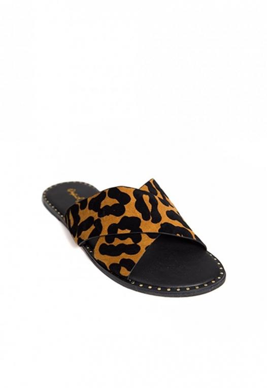 Miranda Leopard Slider Sandals alternate img #4