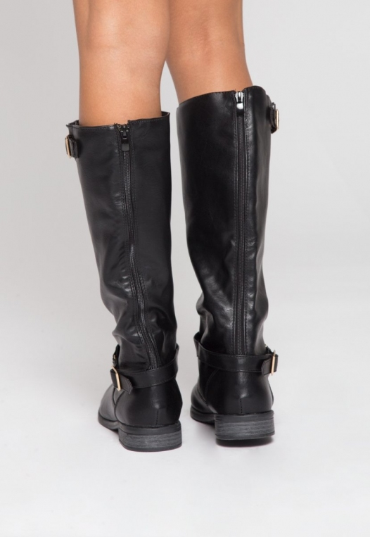 Justina Buckle Boots in Black alternate img #3