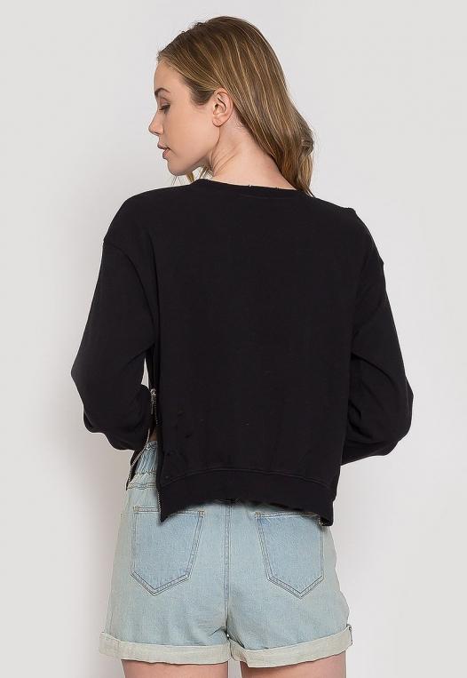 Laid Back Distressed Sweatshirt alternate img #2