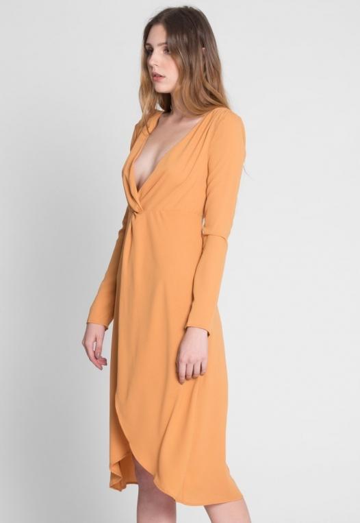 Surprise Front Twist Midi Dress alternate img #4
