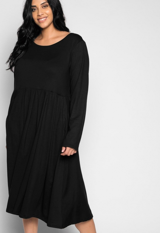 Plus Size Cherry Bomb Fit & Flare Dress in Black alternate img #5
