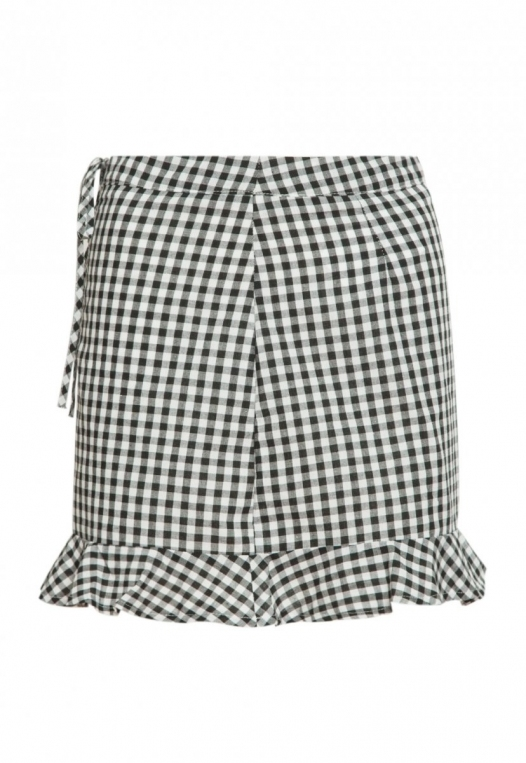 Delphine Plaid Skirt in Black alternate img #7