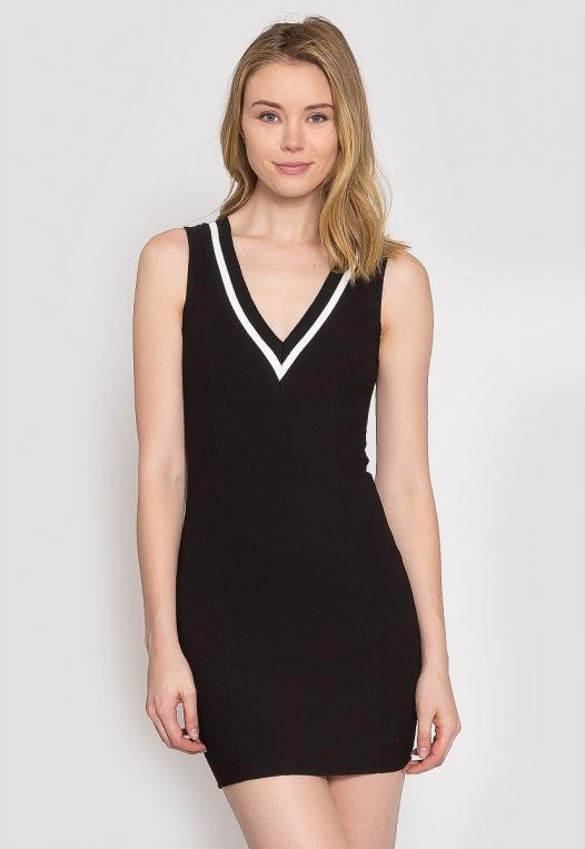 Pacific Varsity V-Neck Dress alternate img #1