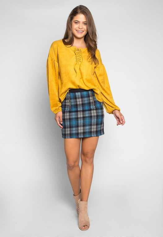 Back to College Plaid Flannel Skirt alternate img #4