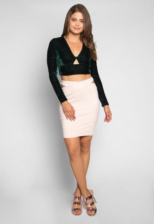Africa Mini Skirt in Blush alternate img #4