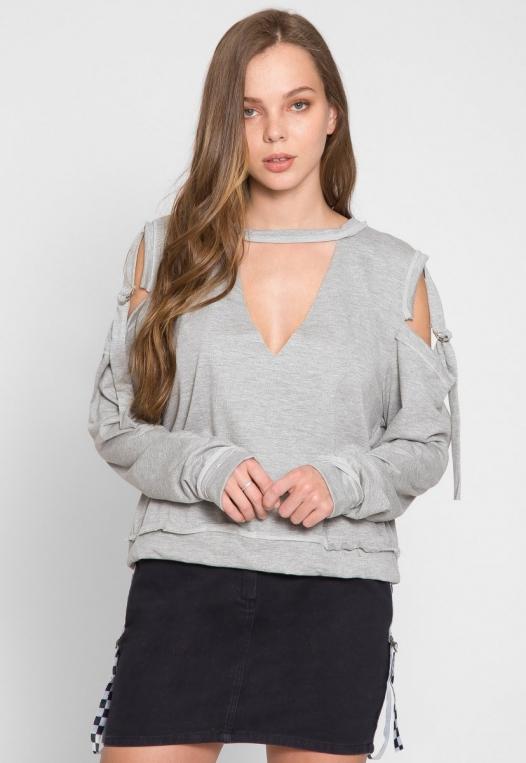 March Cold Shoulder Sweatshirt alternate img #4