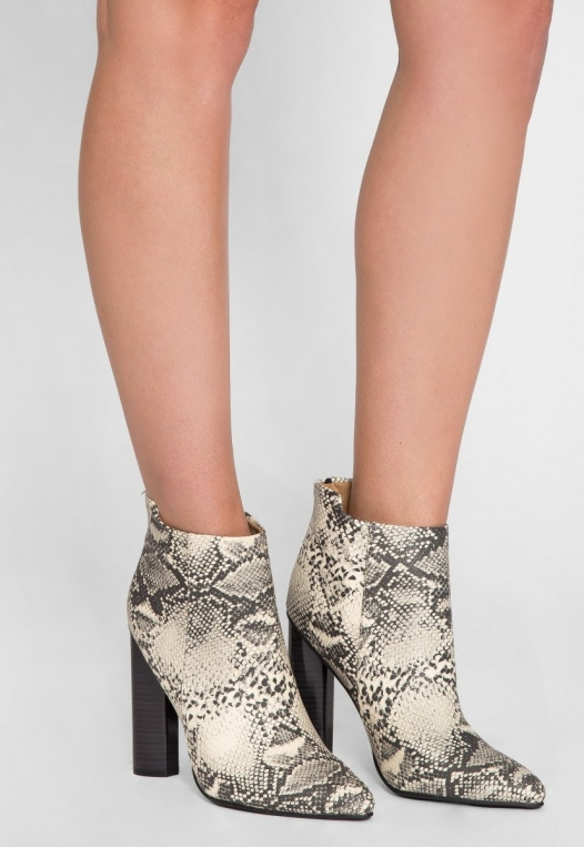 Wild Party Snakeskin Ankle Boots alternate img #1