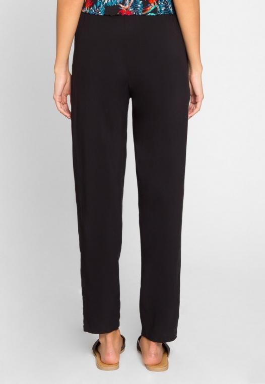 Joy High Waist Rayon Pants in Black alternate img #2