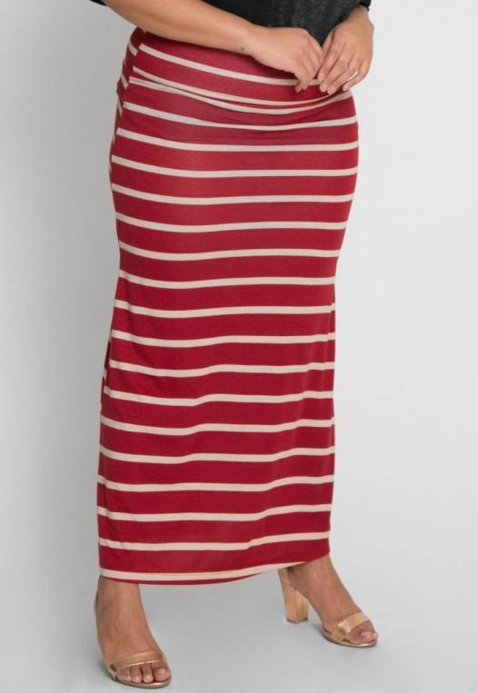 Plus Size Magical Night Stripe Maxi Skirt alternate img #2
