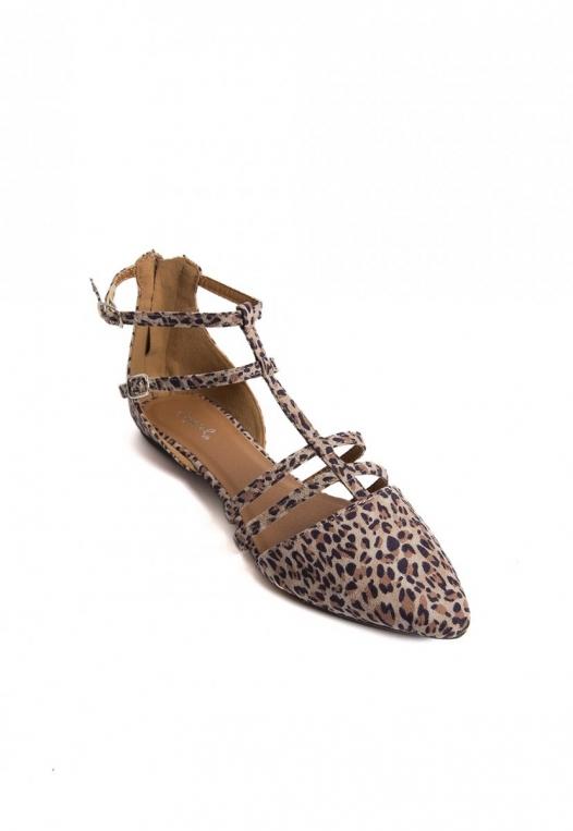 Ditsy Leopard Ballerina Flats alternate img #4