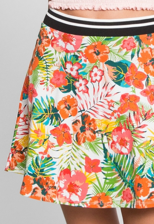 Halfmoon Tropic Print Flare Skirt alternate img #7