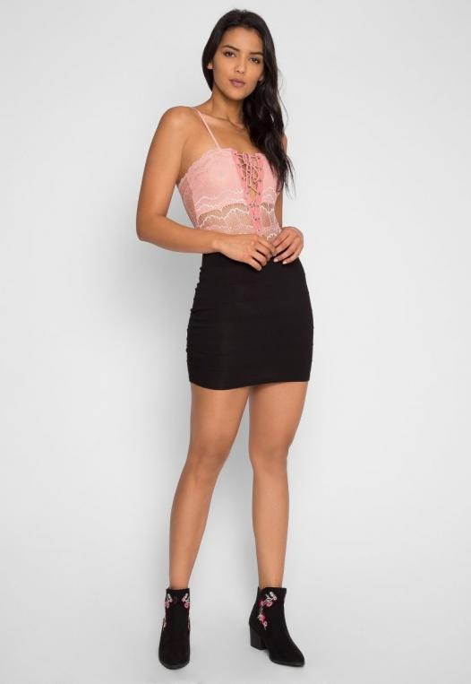Harlow Lace Bodysuit in Blush alternate img #6