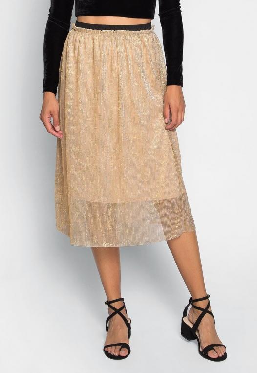 Treasure Metallic Midi Skirt alternate img #3