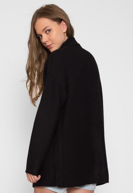 Dani Knit Cardigan in Black alternate img #2