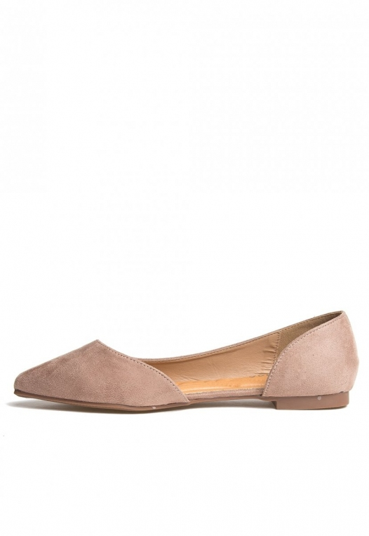 Vivian Pointed Flats in Taupe alternate img #3